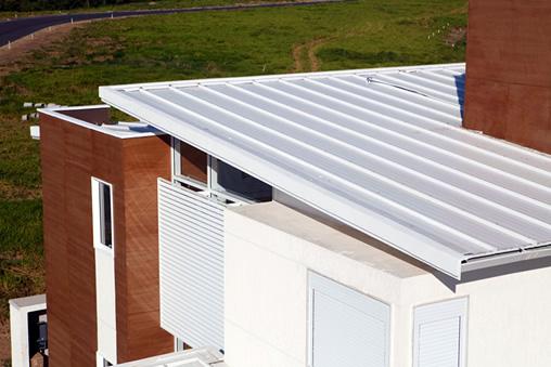telhas galvanizadas residências