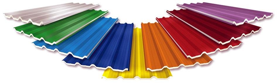 telhas metalicas pintadas